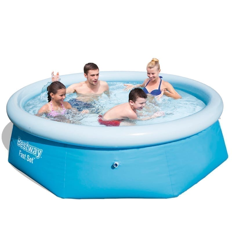 Bestway 2.44m x 66cm Inflatable Fast Set Family Pool