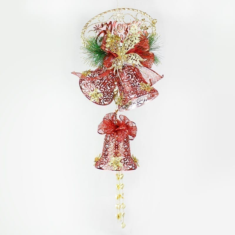 80CM Christmas Bells Butterfly Red